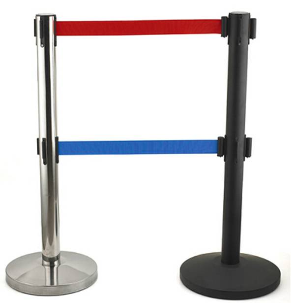 different color powder-coated painting crowd control retractable barrier,queue control barrier