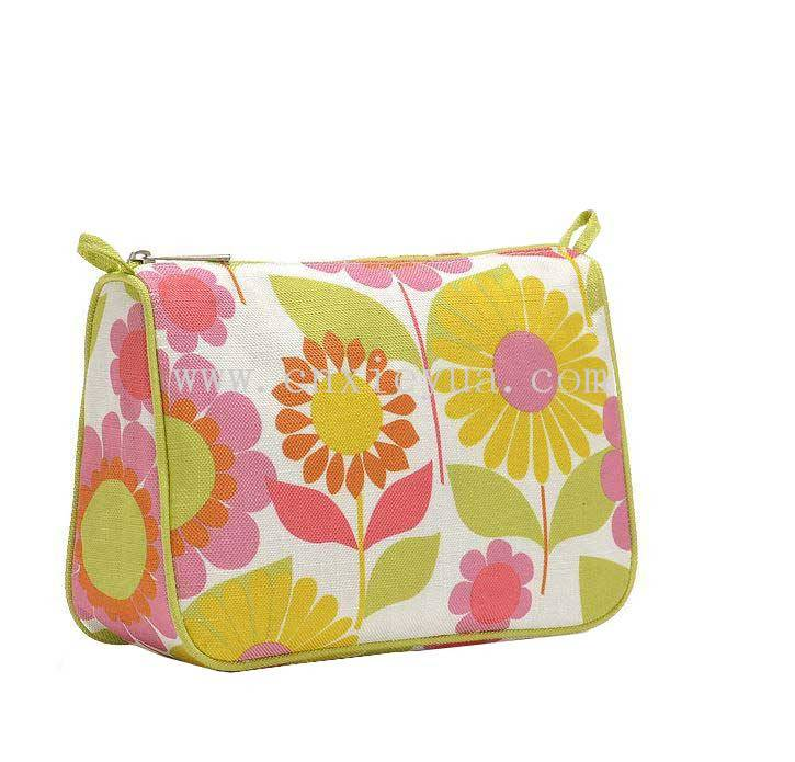 omen makeup bag Floral printing cosmetic bags high quality