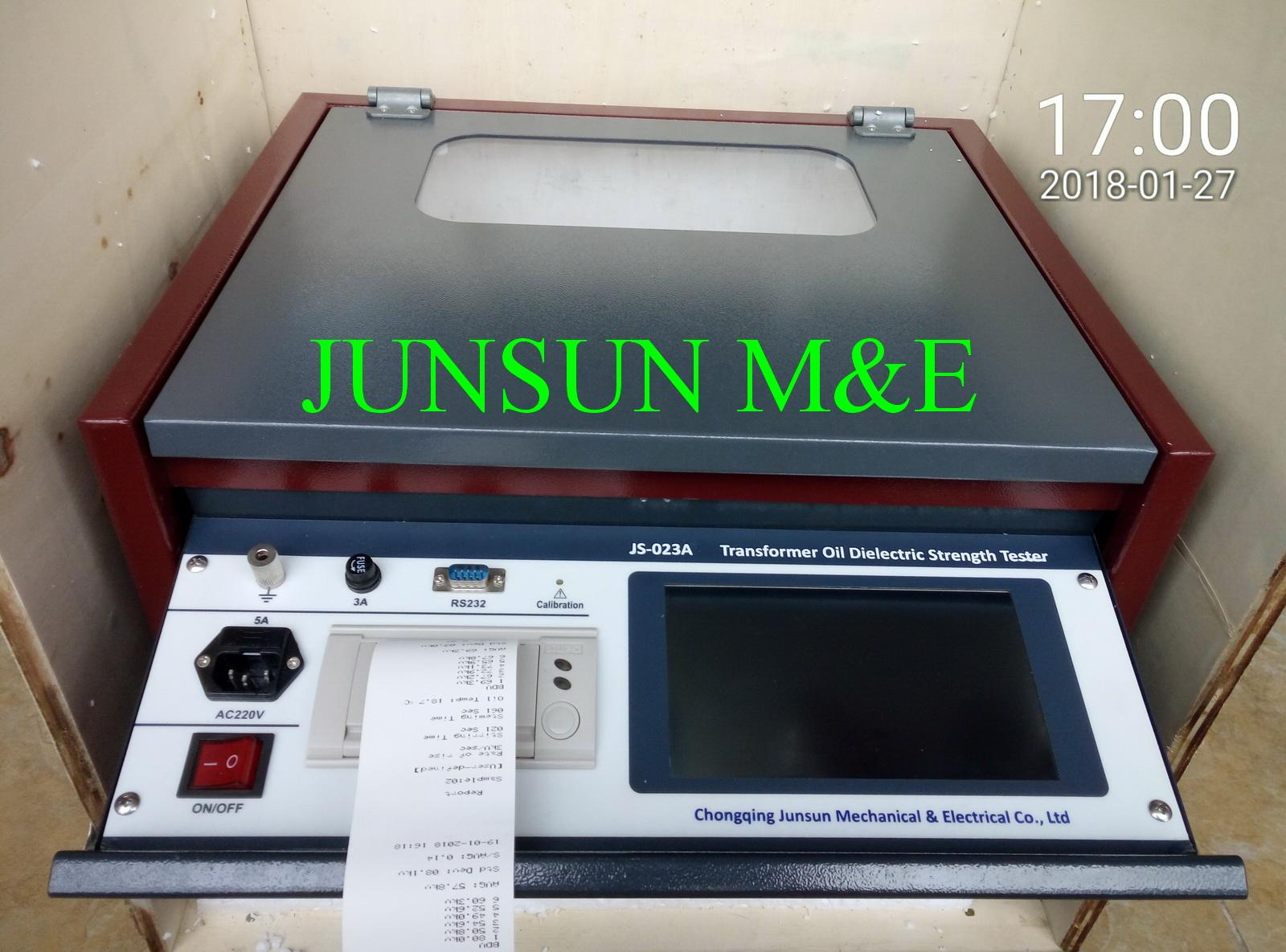 JS-023A High Quality Intelligent Transformer Oil Dielectric Strength Tester