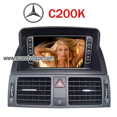 BENZ C200K factory OEM radio Car DVD Player RDS Bluetooth IPOD GPS navi CAV-C200K