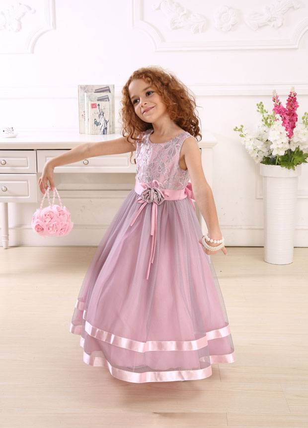 2014 NEW Lilac color dresses with tulle