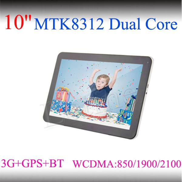 10-inch MTK8312/8382 Dual-core 3G Tablet Phones with DDR3 1GB/Flash 8GB/Bluetooth/GPS/Dual-camera