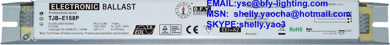 58w electronic ballast for t8 fluorescent lamps,bfy lighting