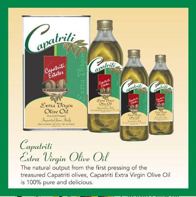 Extra Virgin Olive Oil from Italy CAPATRITI, a Gourmet Factory brand