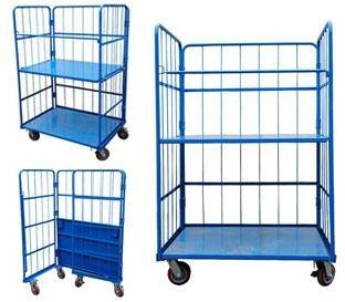 Warehouse Steel Rigid Table Trolley