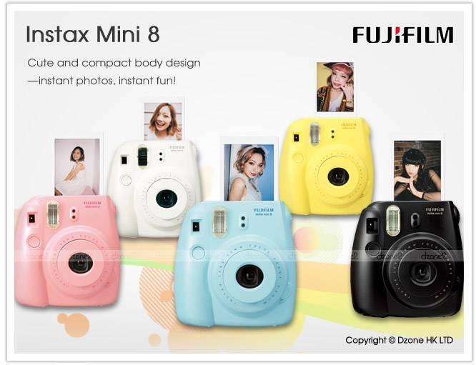 FUJIFILM Instax mini Cheki , White Blue Red Pink Black Yellow ( Used & New Film Camera in Japan )