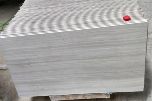 White Wood Marble Tile&Slab