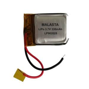 Li-polymer Battery Pack 3.7V 330mAh With Low Self-discharge
