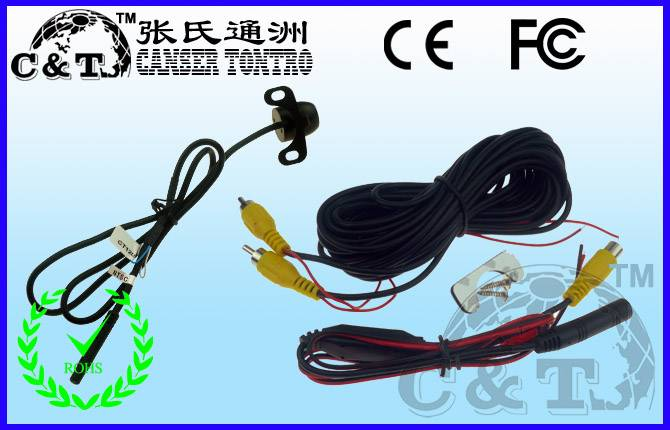 170 Degree 1/4 CCD mini butterfly car rearview camera,CE/FCC