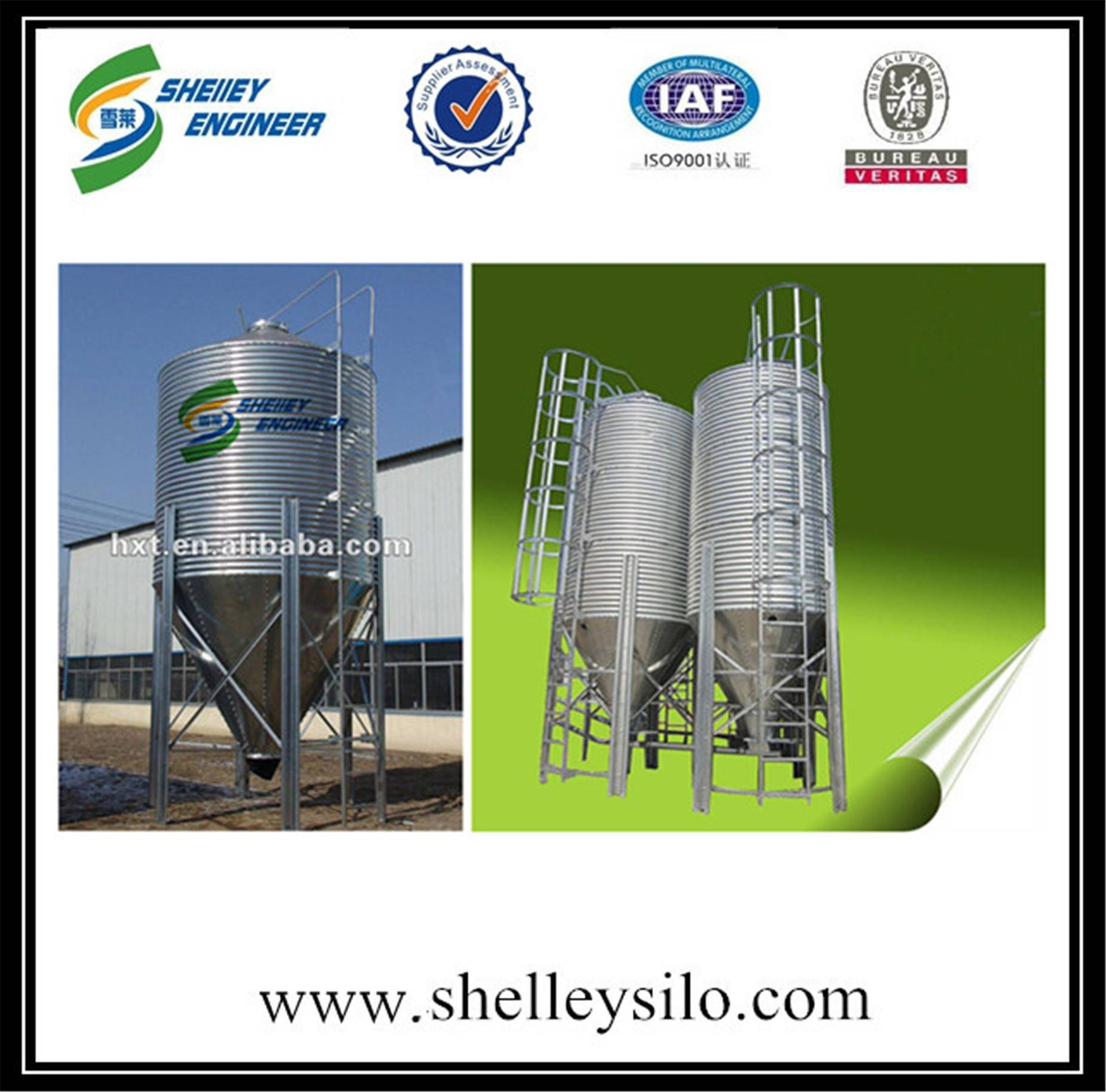 Chicken farms poultry feeds grain silo