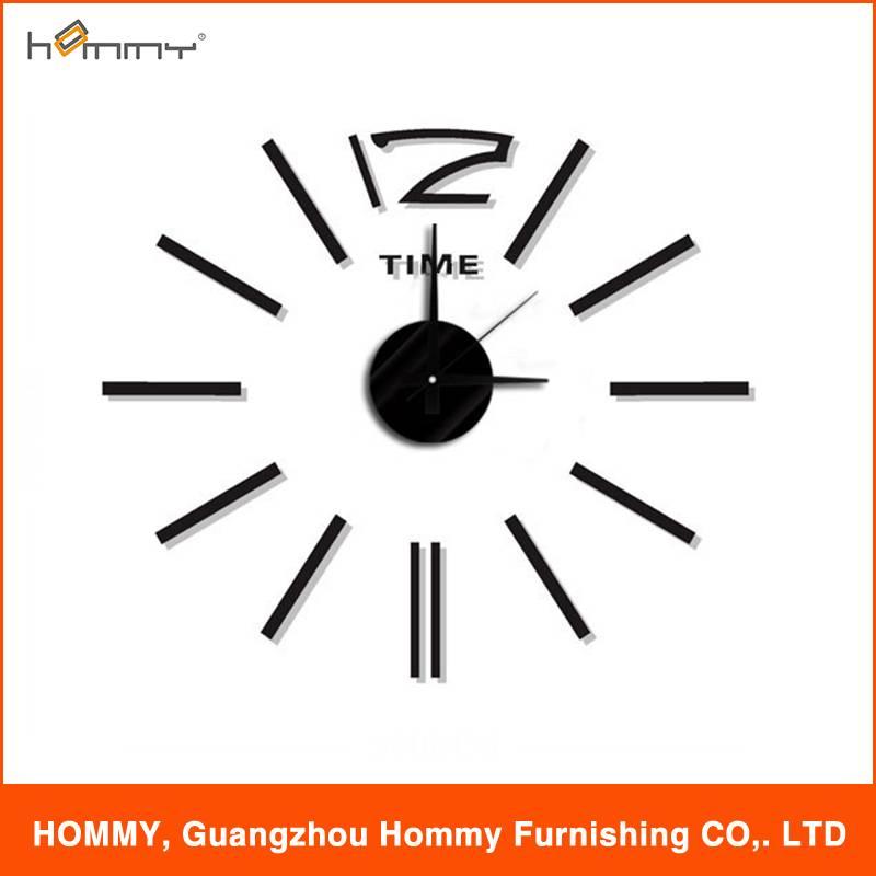 Sticker clock, diy clock for living room decor