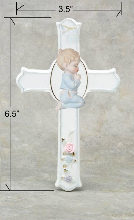 Porcelain religious cross, crucifix