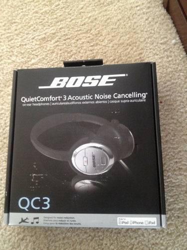 Quiet Comfort 3 Acoustic Noise Cancelling On-Ear Headphones QC3