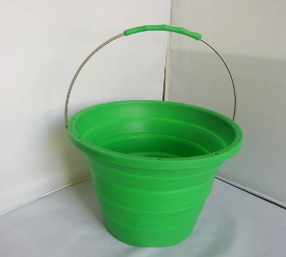 silicone rubber collapsible / foldable decorative bucket / silicone collapsible pack away bucket