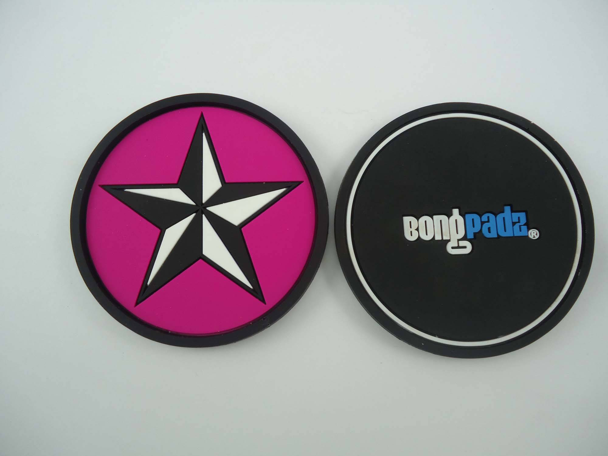 soft pvc rubber coaster