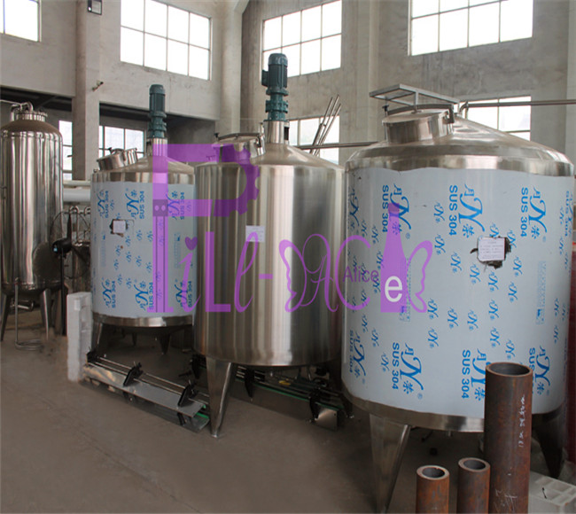 Non heating full closed juice blending tank in stainless steel 304