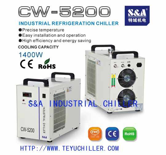 S&A water chiller for Phoseon UV LED curing system