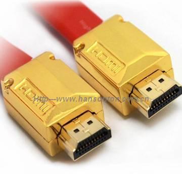 Competitive price Red lichen HDMI CABLE 1.4version