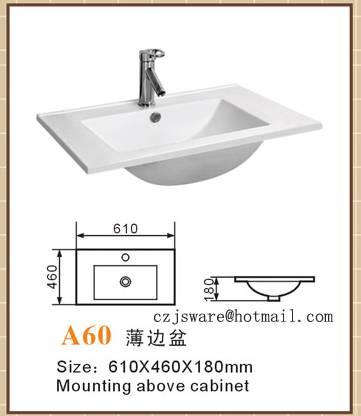 sell cabinet basin,thin edge basin A60