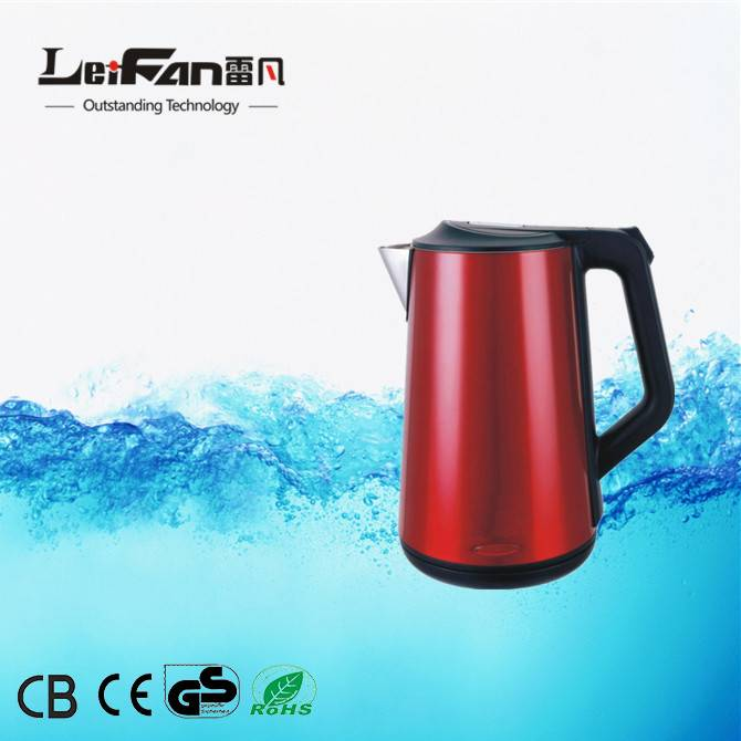 competitive price double wall cordless kettle