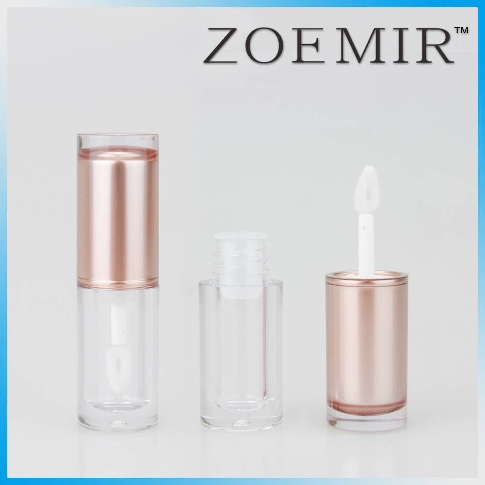 New clear round lip gloss cosmetic packaging good in touch for fashionable girls