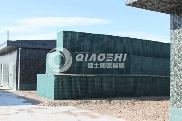 rapidly deployable earth-filled defensive barriers Qiaoshi