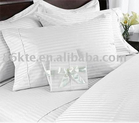 Hotel Bed Sheet, Bed Linen, Pillow cased