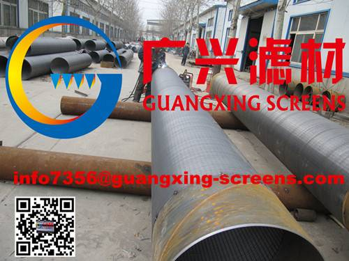 Stainless Steel Johnson V-wire Water Well Screen/Johnson Screen / China Steel Pipes for sale