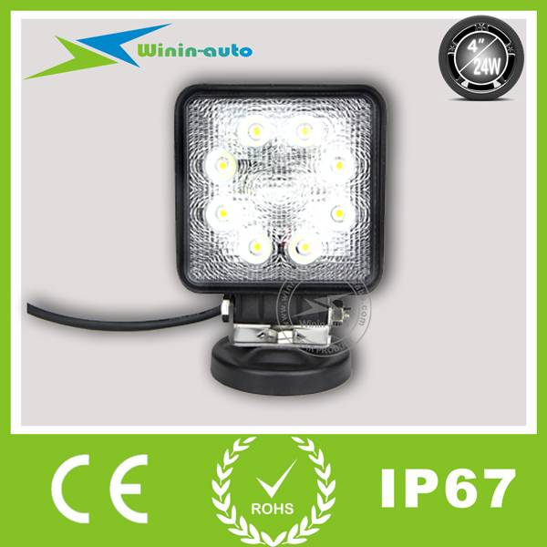 4 24W Epistar LED work Light for off road cars ships 1850 Lumen WI4242
