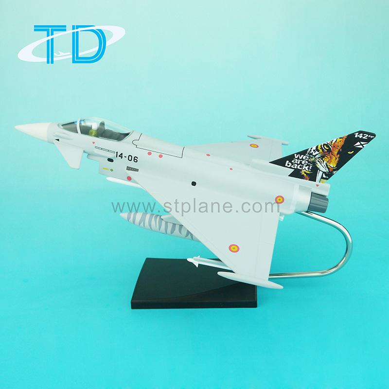 For Best Selling Typhoon EF-2000 emulational 1/52 plane model