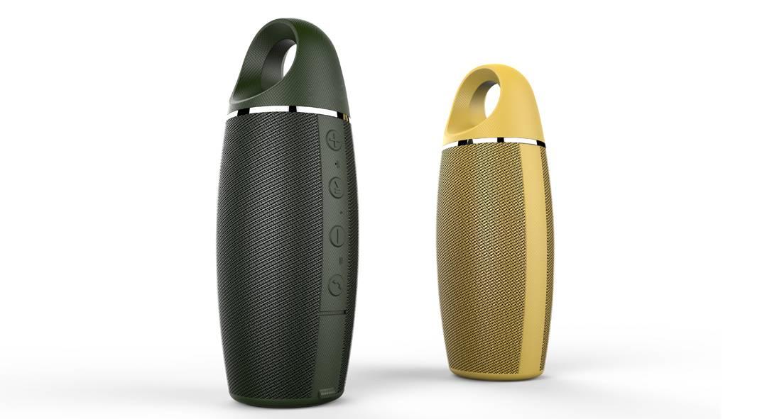 Waterproof dual track sport bluetooth speaker