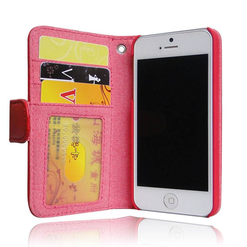 2013 hot selling wallet case for iphone 5, with 3 card slots
