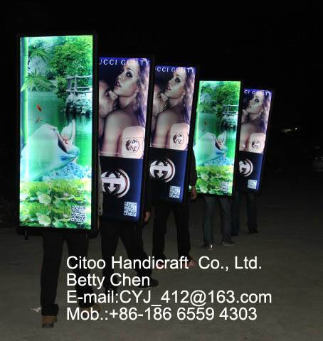 High quality mobile energy saving rechargeable advertising light box
