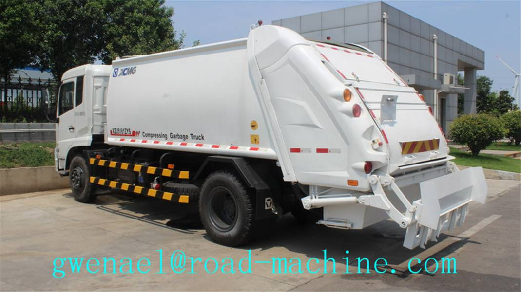 Garbage Compactor Truck Recycling 4x2 With 20 Mpa Hydraulic System, ZZ1167M4611W
