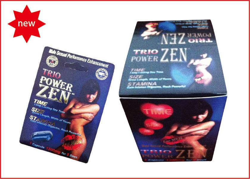 Safe and Natural Trio Powerzen Herbal Enhancement For Men With Black Box Version (1200mg)