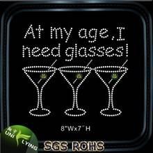 At my age i need glasses wholesale rhinestone transfer