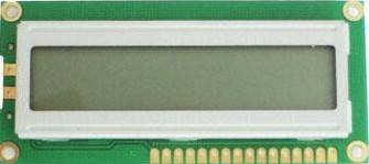 16 x 1 Character LCD Module with 1/16 Duty, 1/4 Bias and Driver Voltage of 4.5V