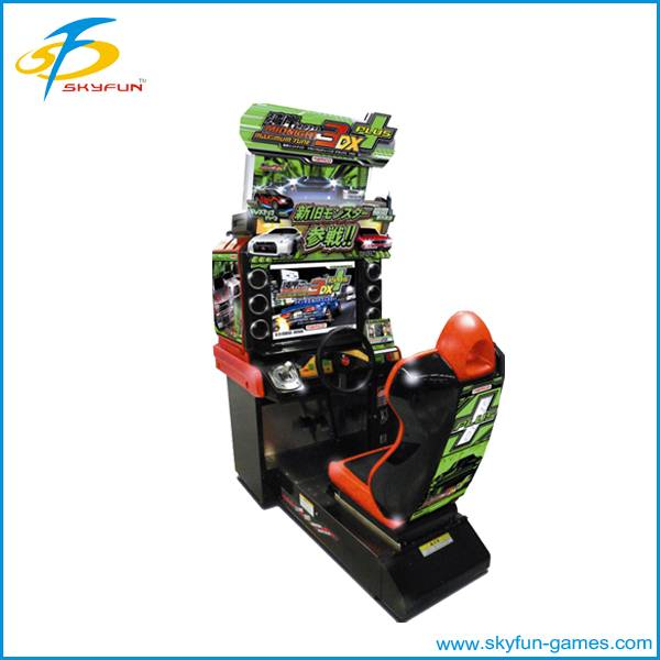Arcade car racing game machine Maximum tune racing car machine