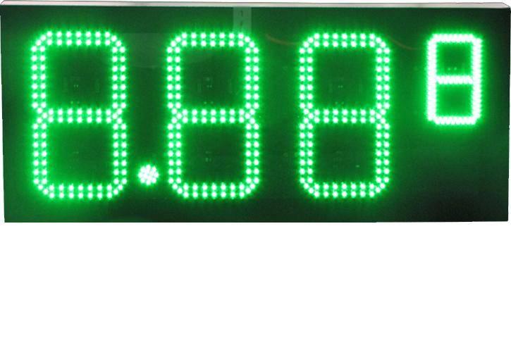 led oil price display
