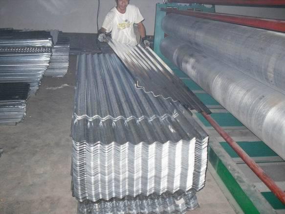 Thin galvanized iron pressure tile machine