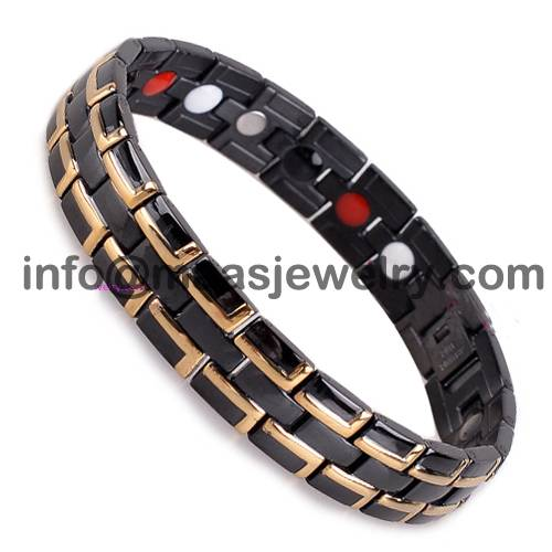 12mm classic 316L stainless steel bracelet with magnets