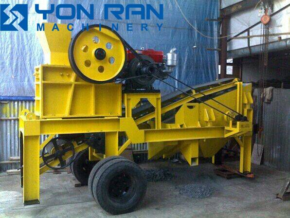 super mini mobile stone crusher plant