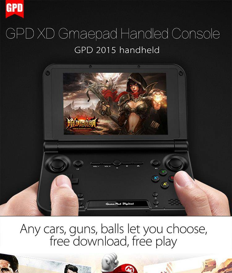 GPD XD games consoles handheld device emulator