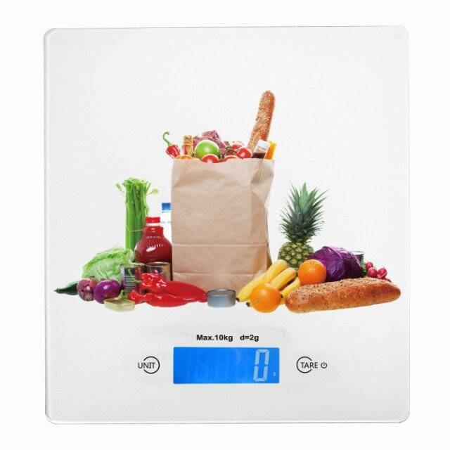 10kg electronic kitchen scale with Big tempered glass platform design VKS308H