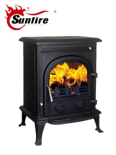 Smokeless Wood Stove with Back Boiler