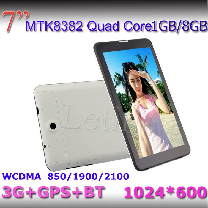 7-inch Android 4.2 3G Tablet PCs, MTK8382, Quad-core, Supports GPS/BT/3G, WCDMA 850/1,900/2,100MHz