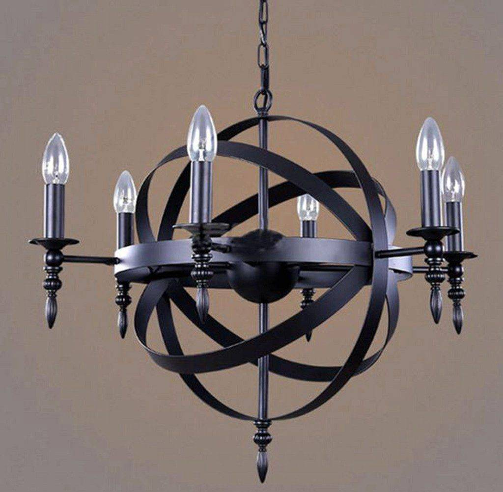 black metal chandelier 10556