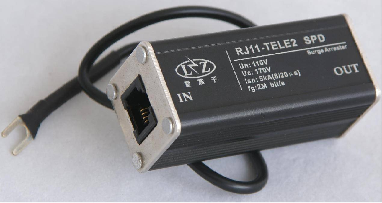 Telephone line surge protection device