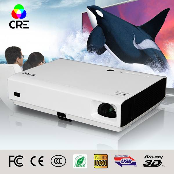 Cre X3000 high quality fast shipping mini laser cinema 3D home dlp projector 1080p