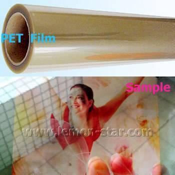 Transparent PET film for ink jet printing
